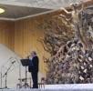Don Elio canta in Vaticano in occasione del centenario dalla fondazione della Famiglia Paolina.