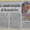 """Articolo sul giornale """"LA NUOVA"""" (Nuova Sardegna)."""